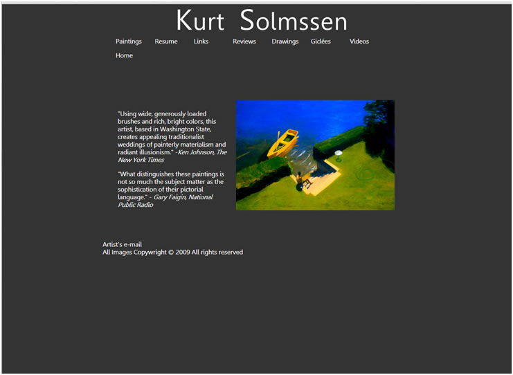 Screen shot of Kurtsolmssen.com